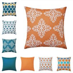 """US Waterproof 16"""" 18"""" 20"""" 24"""" Cushion Cover Pillow Case Outd"""